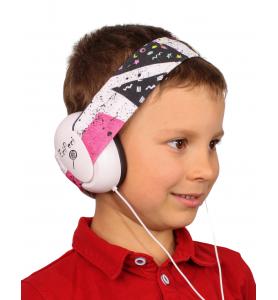 Audio headphones ZIGZAG pink