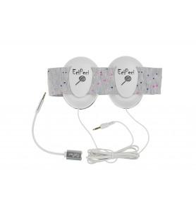 Audio headphones DOTS pink