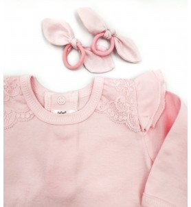 Baby Girl Pink Bodysuit...