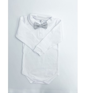 Baby Boy White Bodysuit...